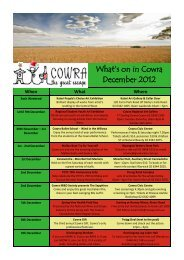 What's on in Cowra December 2012 - Cowra Tourism
