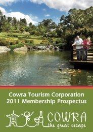 Cowra Tourism Corporation 2011 Membership Prospectus