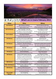 What's on in Cowra February 2013 - Cowra Tourism