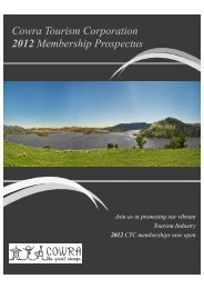 Cowra Tourism Corporation 2012 Membership Prospectus