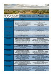 What's on in Cowra August 2012 - Cowra Tourism