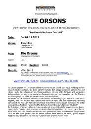 DIE ORSONS - Krasscore
