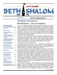 Volume 27-1 - Congregation Beth Shalom