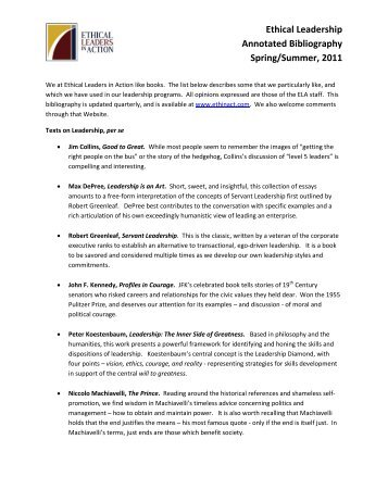 College Essay Help   The Davidson Center  annotated bibliography     Strategic Leadership Associates