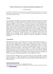 Marine Protected Areas as a Mediterranean fisheries ... - MedSudMed