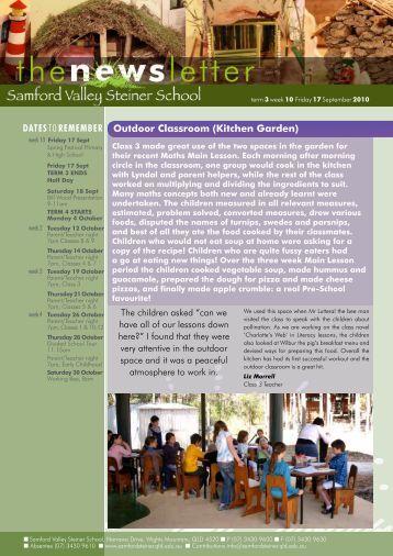 Newsletter Term 3 Week 10 - Samford Valley Steiner School