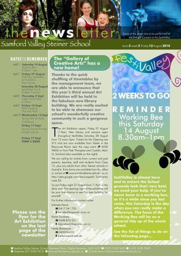 Newsletter Term 3 Week 5 - Samford Valley Steiner School