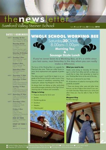 Newsletter Term 4 Week 3 - Samford Valley Steiner School