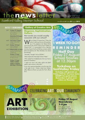 Newsletter Term 2 Week 6 - Samford Valley Steiner School