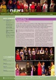 Newsletter Term 4 Week 9 - Samford Valley Steiner School