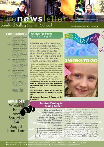 Newsletter Term 3 Week 4 - Samford Valley Steiner School