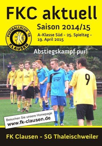 FKC Aktuell - 25. Spieltag - Saison 2014/2015