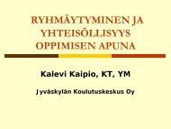 Ryhmäytyminen ja yhteisöllisyys oppimisen apuna - Edu.fi