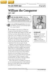 William the Conqueror - J-blanchard.org