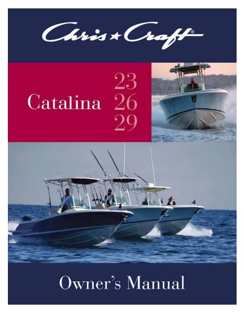 Catalina Owner's Manual - Chris Craft