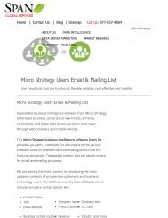 Buy Customized Microstrategy Customer Mailing Lists from Span Global Services