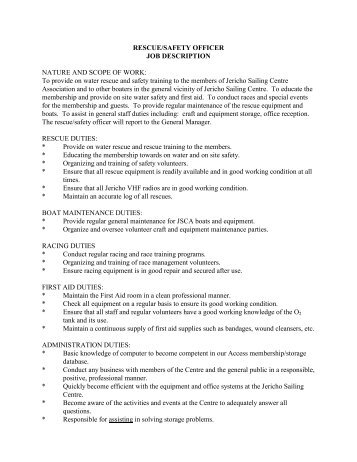 Job Description General Manager Nature And Scope