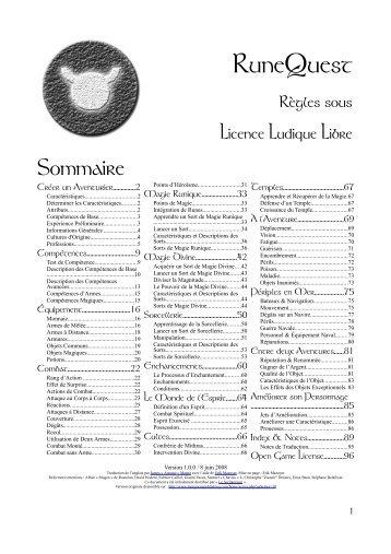 RuneQuest - Le Scriptorium