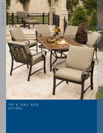 TOP & TABLE BASE OPTIONS - HILTON HEAD PATIO AND HOME