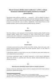 Obecně závazná vyhláška města Lanškroun č. 4/2013, o zákazu ...