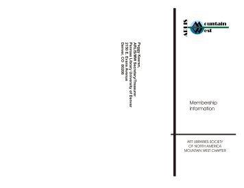 Membership Information - ARLIS/NA-MW Chapter
