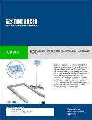 """epwli """"logistic"""" stainless steel palletweighing floor scales series"""