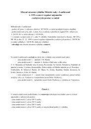 Obecně závazná vyhláška Městské rady v Lanškrouně č. 3/95 o ...