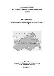Aktuelle Entwicklungen im Tourismus - Ernst-Moritz-Arndt ...