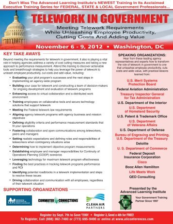 Telework In Government - November 6-9, 2012 - Advanced ...