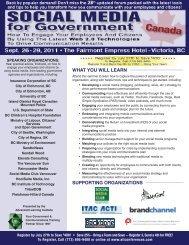 Social Media for Government - September 26-29, 2011 - Advanced ...