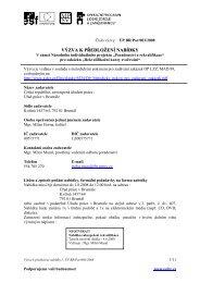 VÝZVA K PŘEDLOŽENÍ NABÍDKY - Evropský sociální fond v ČR