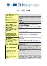 Výzva k podání nabídek - Evropský sociální fond v ČR