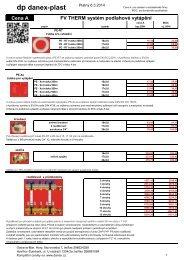 Systém podlahového vytápění FV THERM - DANEX-PLAST s.r.o.