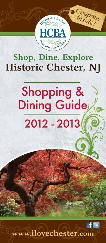 Shopping & Dining Guide - I Love Chester
