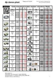 Vícevrstvé trubky a tvarovky pro vytápění - DANEX-PLAST s.r.o.