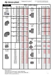 Potrubí PVC - DANEX-PLAST s.r.o.