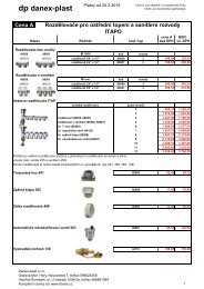 Systém podlahového topení ITAPO - DANEX-PLAST s.r.o.