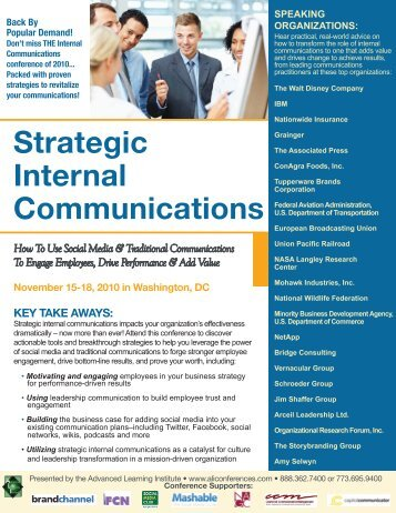 Strategic Internal Communications - Advanced Learning Institute