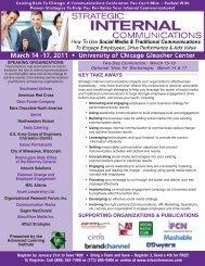 Strategic Internal Communications - March 14-17, 2011 - Advanced ...