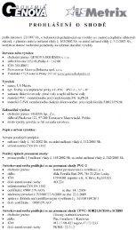 Prohlášení o shodě na PVC a CPVC 2013 - Genova Bohemia sro
