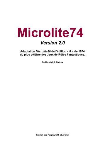Microlite74 - Le Scriptorium