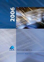 Výroční zpráva JKR 2006
