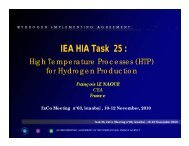 Activities during the Last Six Months - Hydrogen Implementing ...