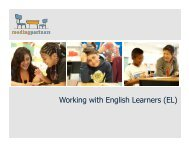 Supporting English Learners Slide Show - Reading Partners