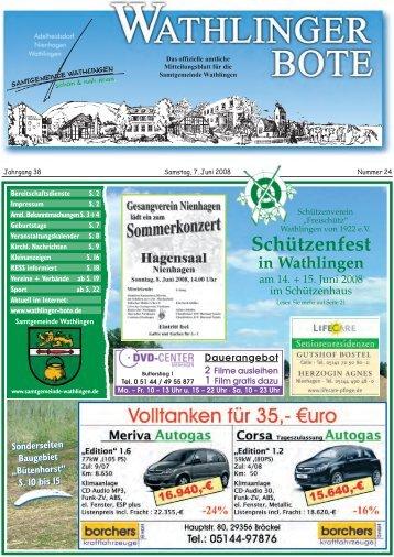 Schützenfest in Wathlingen - Wathlinger Bote