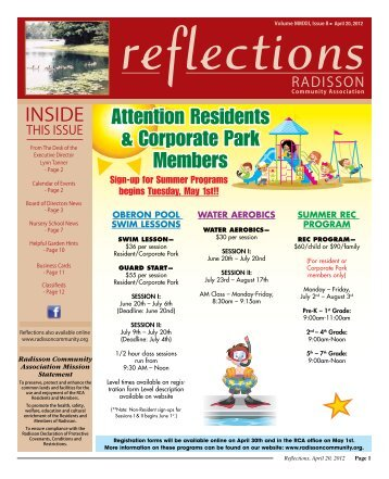 April 20 - East Lake Village Community Association
