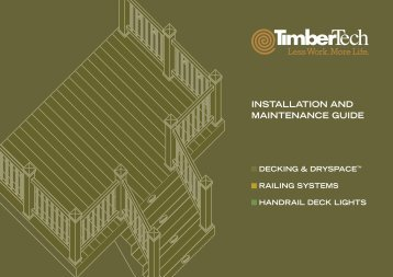 INSTALLATION AND MAINTENANCE GUIDE - Composite Decking