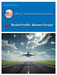 Western Europe - Office of Travel and Tourism Industries