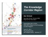 The Knowledge Corridor Region - America 2050