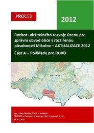 a - podklady pro rozbor udržitelného rozvoje území - Mikulov